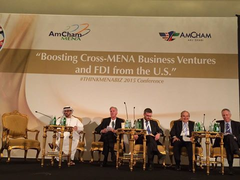 MENA Council Conference attended by US Consulate General to Jerusalem Michael Ratney and Chairman Mr. Said Baransi in Abu Dhabi